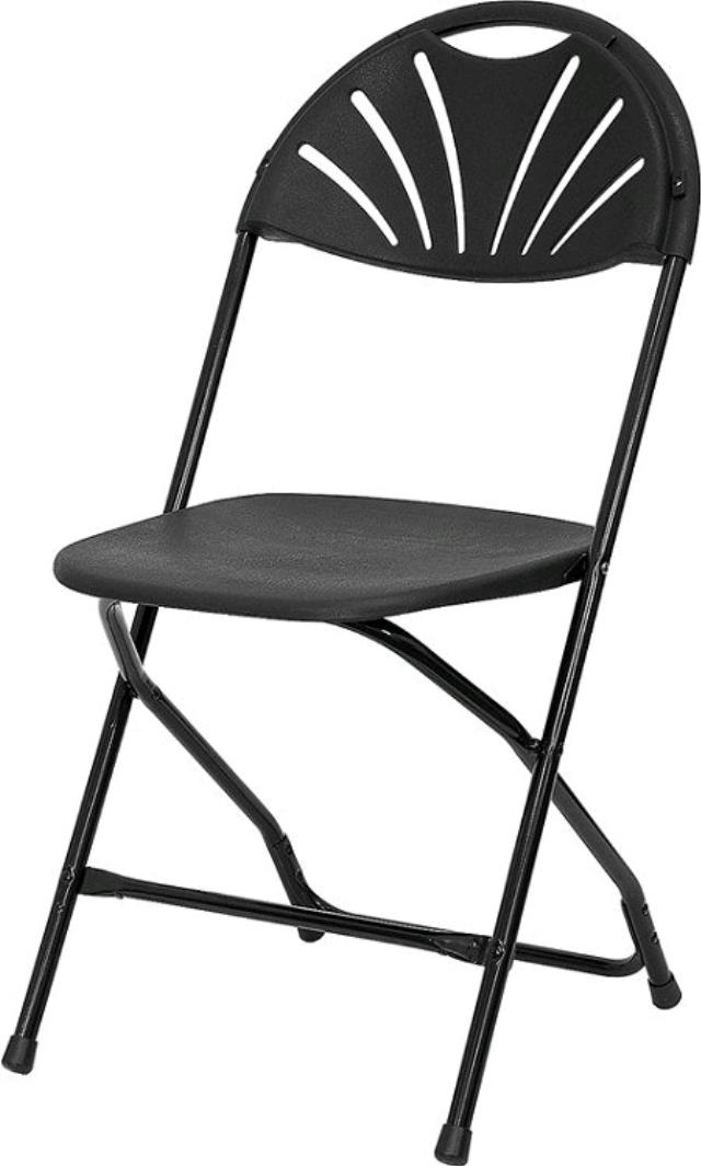 Where to find Black Fan Back Samsonite Folding Chair in Chesapeake