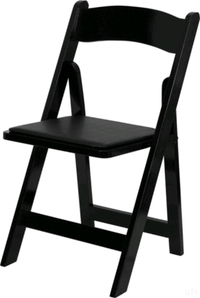 Where to find Black Wood w Padded Seat Folding Chair in Chesapeake