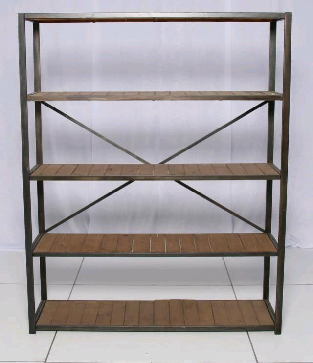 Where to find Black Wooden Book Shelf w X on Back in Chesapeake