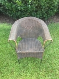 Rental store for Vintage Wicker Chair with Iron Frame in Chesapeake VA