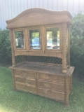 Rental store for Vintage Wicker Wooden Hutch in Chesapeake VA