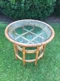 Rental store for Vintage Wicker Table with Glass Top in Chesapeake VA